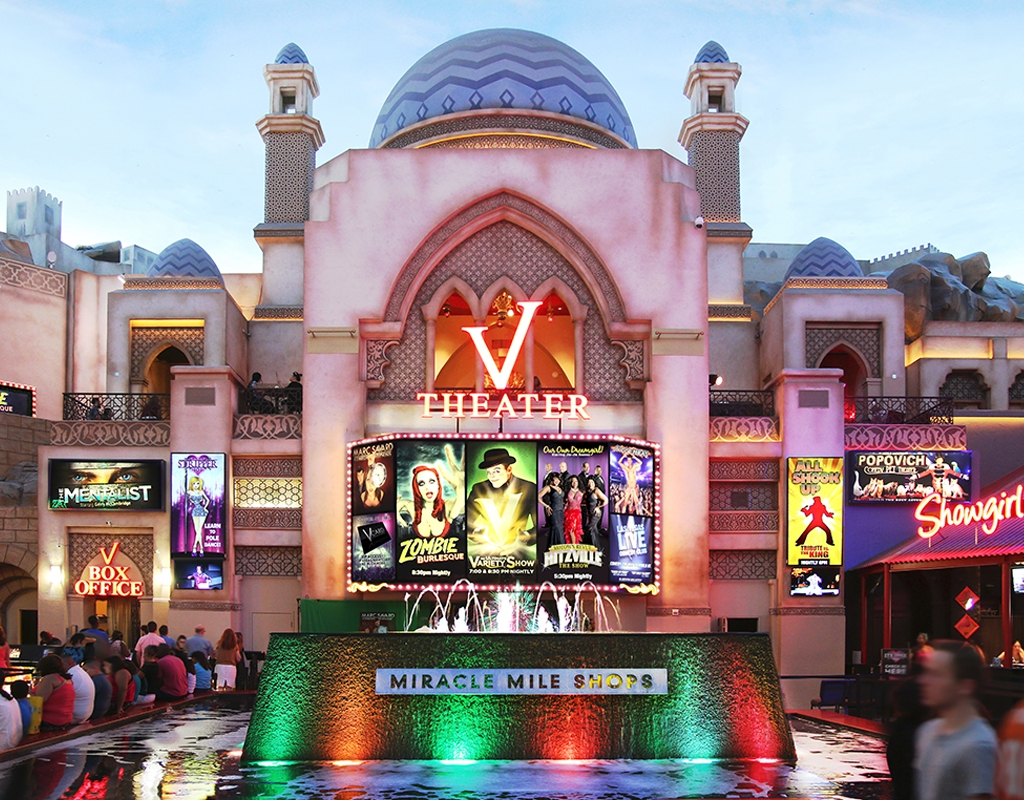 Miracle Mile Las Vegas Map.V Theater A Las Vegas Theater V Theater Box Office